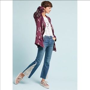 Anthropologie High Rise Sequined Flare Jeans